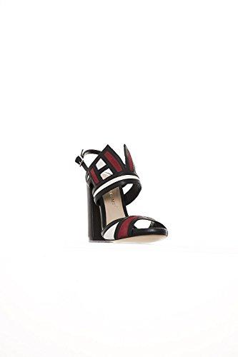 Bruno Premi Mujer zapatos con correa negro / rojo