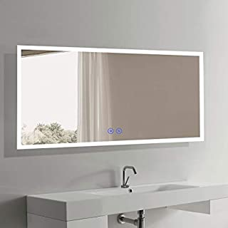 70 x 32 in Horizontal LED Bathroom Silvered Mirror with Touch Button (CK010-A)
