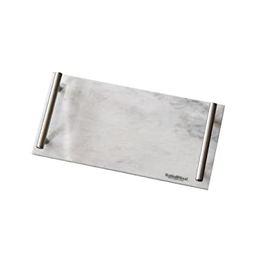 Marble Serving Tray by Bottles & Wood