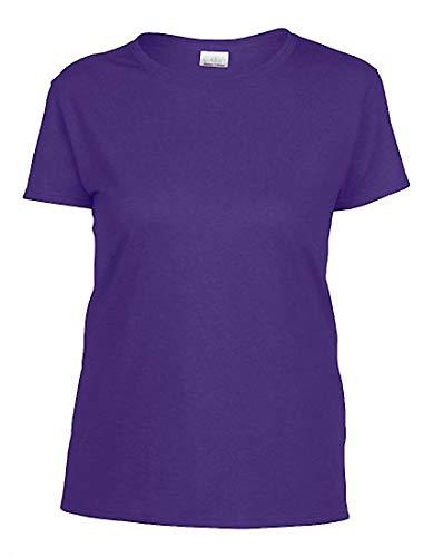 Camiseta mujeres redondo para Cotton cuello lila Heavy para mujer 2store24 ZqS7Zw