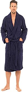 INSIGNIA Mens Luxury 100% Cotton Towelling Bath Robe Dressing Gown Holiday Spa Gym