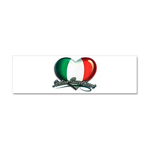(Car Magnet 10 x 3 Inch Italian Sweetheart Italy Flag)