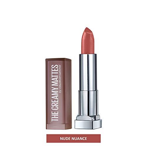 Maybelline New York Color Sensational Nude Lipstick Matte Lipstick, Nude Nuance, 0.15 oz