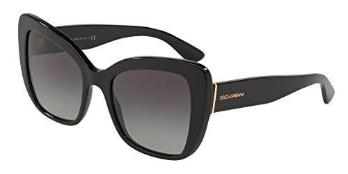 Dolce and Gabbana DG4348 501/8G Black DG4348 Butterfly Sunglasses Lens ()