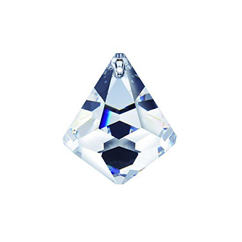 Faceted Cone - Swarovski crystal 50mm Clear Faceted Cone Ball Prism, Amazing Shine & Brilliance, Strass Logo engraved, Pendant Prism, Chandelier Accent, Party Decoration