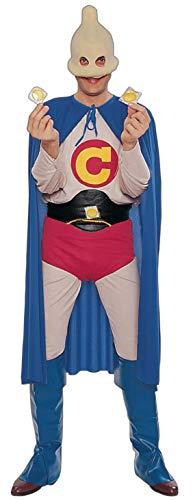 Forum Captain Condom Humorous Superhero Costume, Multi,