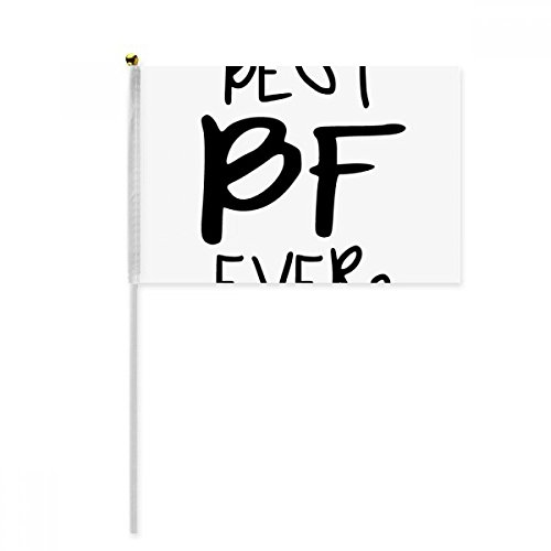 Best BF Ever Valentine's Day Love Hand Waving Flag 8x5 inch Polyester Sport Event Procession Parade 4pcs by beatChong
