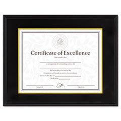 - -- Hardwood Document/Certificate Frame w/Mat, 11 x 14, Black