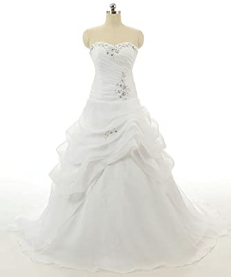 RohmBridal Women's Sweetheart A-line Wedding Dress Bridal Gown