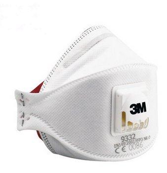 3m Plegable Máscara Niebla Polvo Desechable De Aura Cara 9332