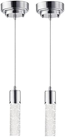 Westinghouse Lighting 6307900 Cava LED Indoor Mini-Pendants, 2-Pack, Chrome