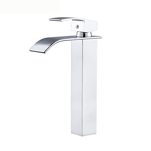 KAILUN Wasserfall Waschtischarmaturen, Badezimmerbassin Monobloc Massivmessing Warmwasser-Mischbatterie, Einhebelmischer, Luxus und praktisch