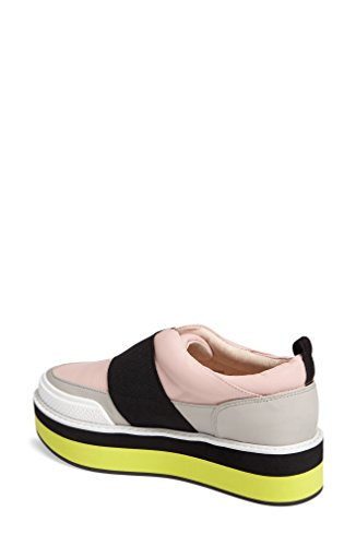 Shellys London Damini Lumière Rose Multi Piste Digne Slip-on Plate-forme Wedge Sneaker