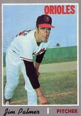 (1970 Topps Regular (Baseball) Card# 449 Jim Palmer of the Baltimore Orioles Good Condition)