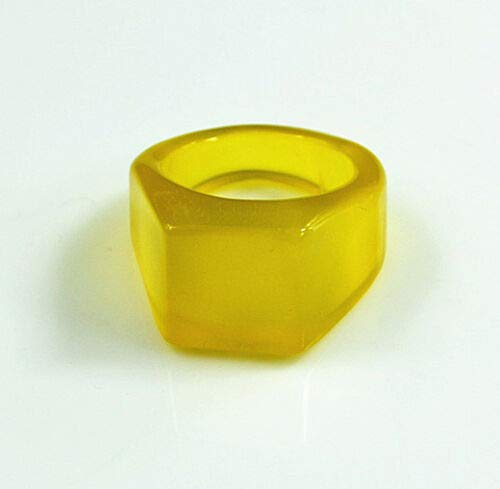 FidgetFidget 9-10# Natural Jade Ring Stone Mineral Carving Yellow