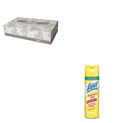 KITKIM21400BXRAC04650CT - Value Kit - Professional LYSOL Brand Disinfectant Spray (RAC04650CT) and KIMBERLY CLARK KLEENEX White Facial Tissue (KIM21400BX)