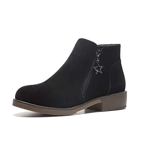 Basso Black Alti Con Da Boots Women's Stivaletti Largo E Donna Tacco Uxvznq7w