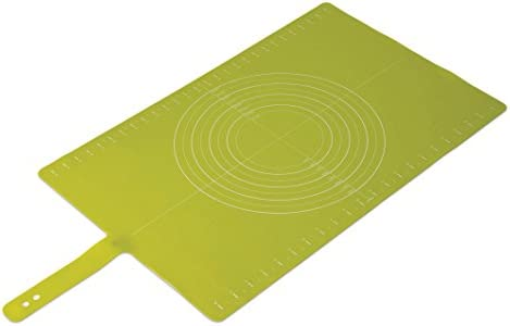 Joseph Joseph 20031 Silicone Roll-Up Pastry Mat with Measurements, Green