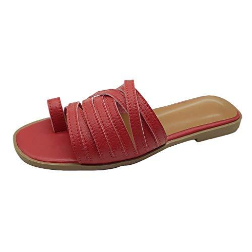 Londony Shoes Signature Sandal: Comfort Walking Ergonomic Flip Flops, Slides & Sandals for Women Red