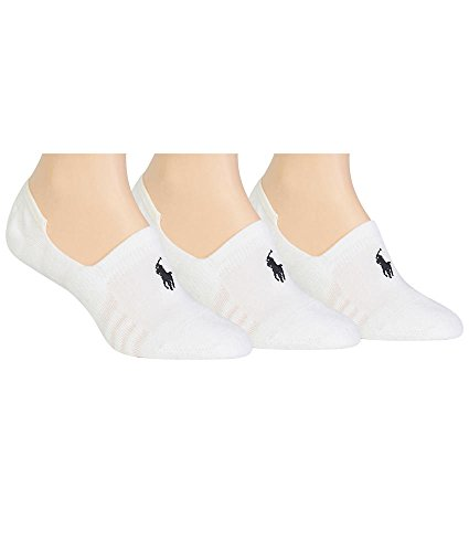 Ralph Lauren Sneaker Liner 3-Pack, One Size, White / - Ralph Ladies Lauren