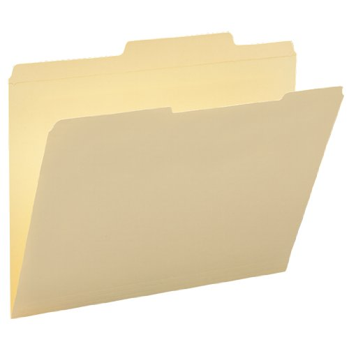 - Smead File Folder, Reinforced 2/5-Cut Right of Center Position, Guide Height, Letter Size, Manila, 100 Per Box (10376)