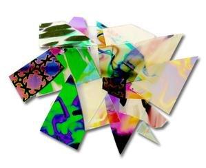 Dicroic Glass (1/2 Lb Cbs Dichroic Pattern Scrap Pack - 96 Coe)