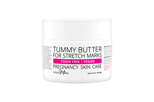 Tummy Butter Stretch Mark Prevention Cream - Safe for Pregnancy - C-Section Scar Lotion for Dry Pregnancy Skin - Pure Cocoa Butter & Shea Butter - Toxin Free - Safe for Pregnancy - Vegan - 8 oz