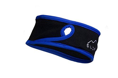 Slope Women's Girl Ponytail Headband Polyester Fleece Full Ear Warmer Sports Coverage Guards Black / Navy Blue - Heated Ear Muffs