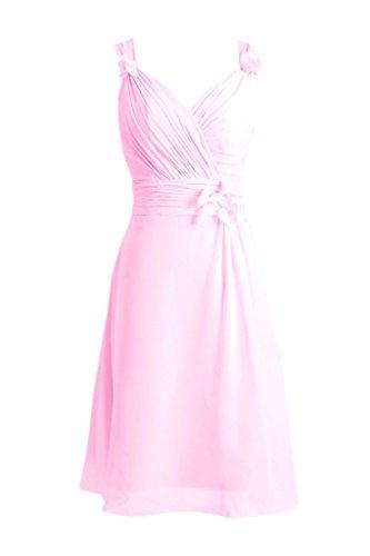 Daisyformals Élégante Robe De Soirée De Mariage Pas Cher Robe En Mousseline De Soie (bm10298) # 20 Glace Rose