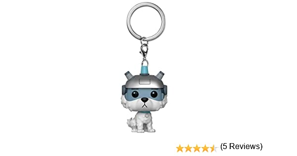 Funko- Pocket Pop Keychain: Rick and Morty-Snowball Rick & Morty Llavero, Multicolor, Standard (32351)