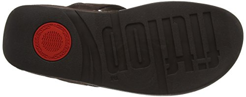 FitFlop Lulu Toe-Thong Shimmer-Check, Sandales Femme Marron (Chocolate 30)