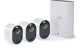 Arlo Technologies Ultra - 4K UHView, 2-way Audio,D Wire-Free Security 3 Camera System | Indoor/Outdoor with Color Night Vision, 1 Spotlight, Siren | Works with Alexa and Homekit | (VMS534) (B07JJTY5QZ) | Amazon price tracker / tracking, Amazon price history charts, Amazon price watches, Amazon price drop alerts