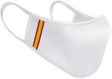 Mascarilla de Tela Homologada Reutilizable Bandera de España Vertical - Blanca: Amazon.es: Ropa y accesorios