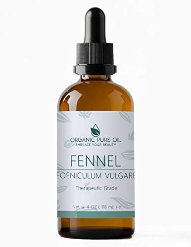 Fennel Essential Oil for Skin and Hair 4 oz Fennel Oil 100% Pure Essential Oil Natural Steam Distilled Undiluted Fennel Seed Oil by Organic Pure Oil