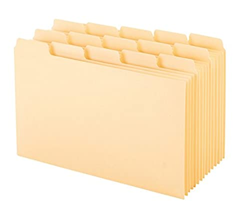 Oxford Index Card Guides with Blank Tabs, 4 x 6 Inches, 1/5 Cut Tabs, Manila, 100 per Box (40462) - Manila Divider