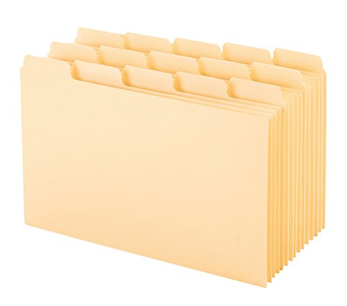 Oxford Index Card Guides with Blank Tabs, 4 x 6 Inches, 1/5 Cut Tabs, Manila, 100 per Box (40462) (Oxford Card Index Dividers)