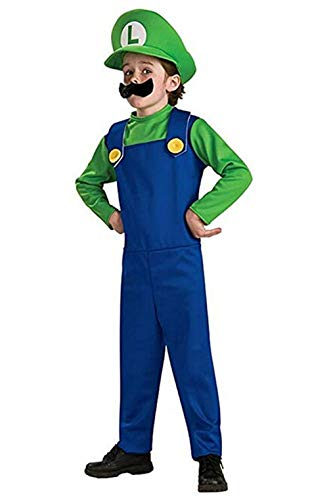 Unisex Super Mario Brothers Costume Adult Cosplay for Teens Children Kid Mario/Luigi Fancy Outfits Dress Up Party -