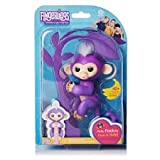 WowWee Fingerlings Baby Monkey - Mia - Purple ( Includes Bonus Stand)