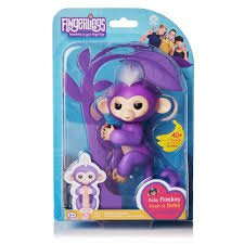 WowWee Fingerlings Baby Monkey - Mia - Purple ( Includes Bonus Stand) - Toys and Games