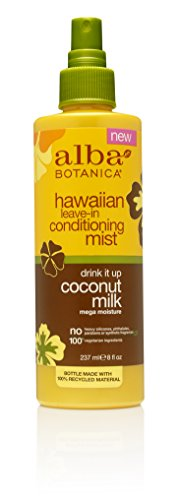 Alba Leave In Conditioner - Alba Botanica Drink It Up Coconut Milk Hawaiian Leave-In Conditioning Mist, 8 oz.
