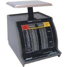 (Pelouze X2 2-lb.Capacity Standard Mechanical Mailroom Scale, 3-3/4 x 3-1/4 Platform)