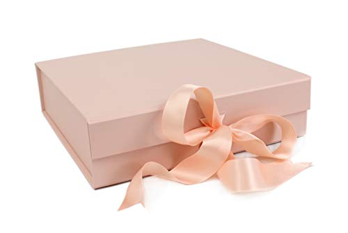 SketchGroup Gift Box with Ribbon - for Luxury Packaging - Assortment | Black | |Red | | Pink | (Gold -
