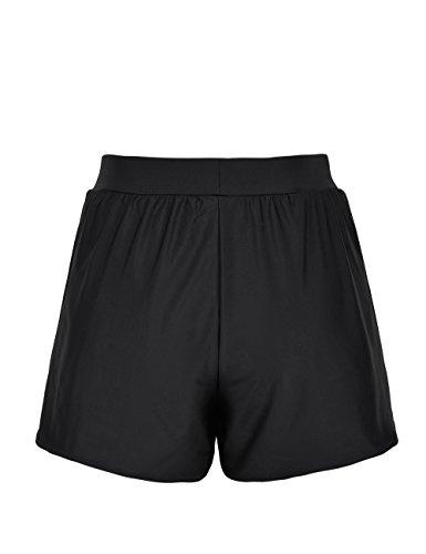 ninovino Women's Swim Boy Shorts A-Line Loose Tankini Bottom With Briefs Black US18 by ninovino (Image #3)