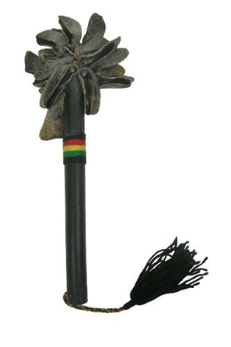 (African Goat Toe Unas with stick - Recycled Rattle Shaker )