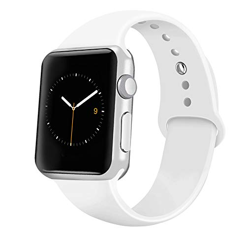 - iGK Sport Band Compatible with Apple Watch 38mm/40mm, Soft Silicone Sport Strap Replacement Bands for iWatch Apple Watch Series 4 Series 3, Series 2, Series 1 38mm/40mm White Small