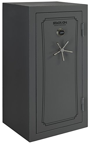 Stack-On TD-40-GP-C-S Total Defense 36-40 Gun Safe with Combination Lock, Gray Pebble