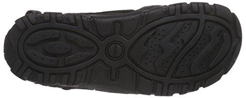 Geox Sandal Strada B, Men Platform Sandals Black (Black)