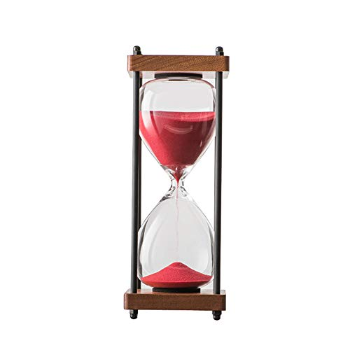 Large Hourglass (Bellaware Large Hourglass Timer, 30 Minutes Wooden Sand Timer, Gift Box Packing, Red)
