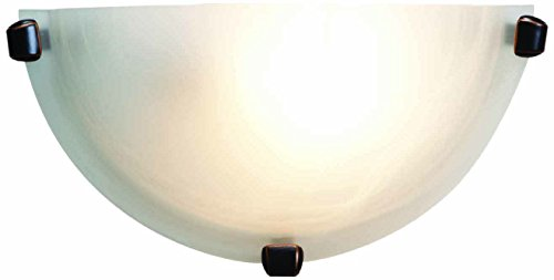 Mona - Wall Sconce - Oil Rubbed Bronze Finish - Alabaster Glass Shade ()