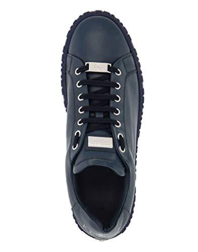 Pelle Sneakers Liscia Blu Graphic Plein Philipp In UOHwz1qx